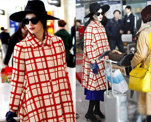 红格大衣来自纽约的古着二手店