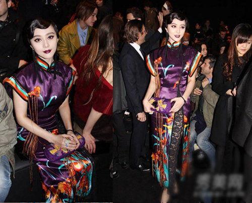东方旗袍+蕾丝网袜,非常优雅大方