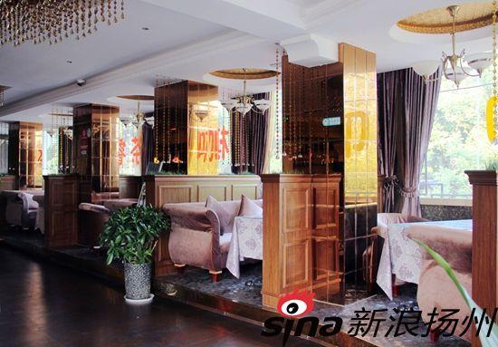 号的龙印时尚茶餐厅,欧式古典兼现代元素的装修风格