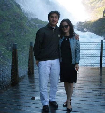 李彦宏马东敏挪威旅行照片