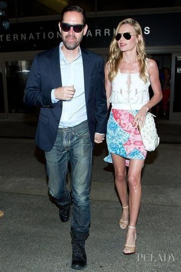 凯特-波茨沃斯(Kate Bosworth)和男友MichaelPolish