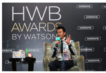 郭富城在屈臣氏HWB媒体见面会现场分享时尚潮流心得