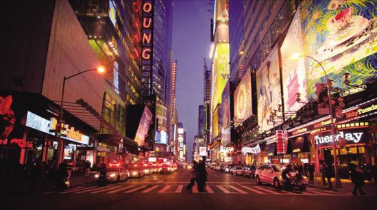 春天街道晚上图片