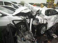 沪蓉高速常州段发生连环车祸 伤亡情况不明