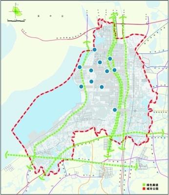 部分规划公示; 吴江运河公园规划图图片分享; 苏嘉城际铁路等形成环太